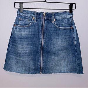 Woman's Blank NYC Zip Up Denim Mini Skirt 24